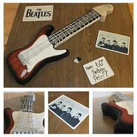 beatles guitar cake