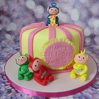Teletubby 1st birthday cake.