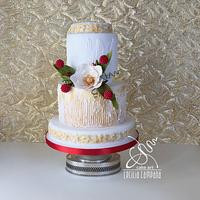 Gold Ice wedding cake