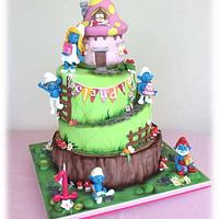 Smurfs Magic world cake