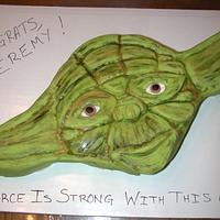 Yoda Graduation Cake