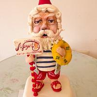 Santa is coming soon cake