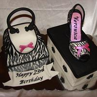 Purse, Shoes and Shoebox Birthday Cake
