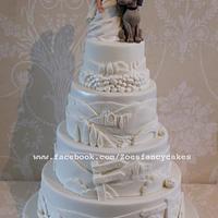 Wedding cake + dog topper :)