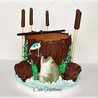 A Groom's Cake Wedding Cake
