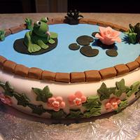 Frog in a pond by Niknoknoos Cakery
