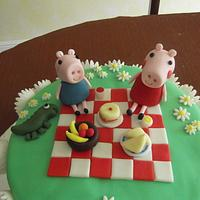 Peppa Pig dairy free chocolate cake