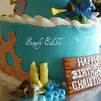Finding Nemo Cake by Shelly-Anne
