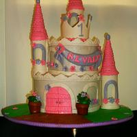 My First princess Castle Cake by Linda