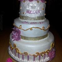 Pink Pearl Princess Birthday cake