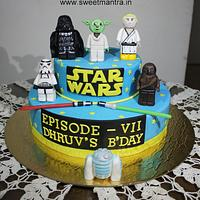 Star Wars 3D figures theme 2 layer customized cake
