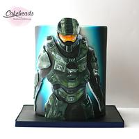 Painted Halo Cake