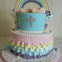 Pastel Rainbow and Ruffles for Twins