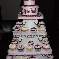 Barbie Cowgirl Cupcake Tower
