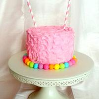 Rainbow Heart Smash Cake