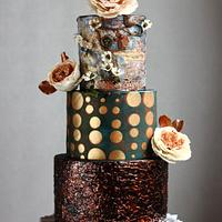 VINTAGE MIXED MEDIA JOURNAL WEDDING CAKE