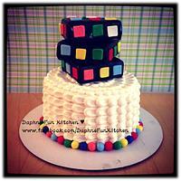 Rubic's cube cake