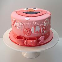 Elmo Pink Cake by novita