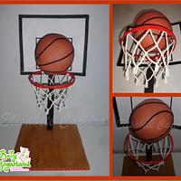 Basketball cake (gravity defying)