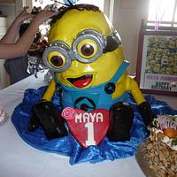 Despicable Me Minion 3D cake