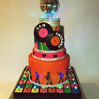 70's Themed 40th Birthday cake