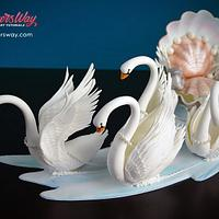 Sugar Swans and Seashell Carriage