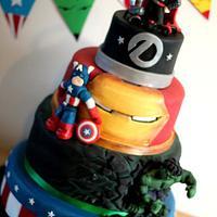 Avengers 30th birthday cake