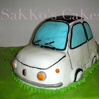 OLD FIAT 500 Cake
