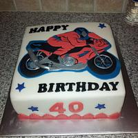 Motorbike birthday cake...
