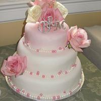Pink Pearl Wedding Cake by Christine D
