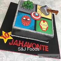 Marvel Themed cake