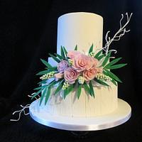 pastel country wedding