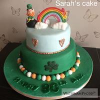 Irish themed cake