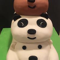 We Bare Bears birthday cake