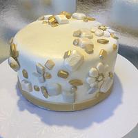 NY bejeweled cake