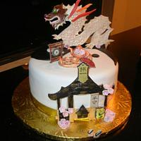 """The Cake with the Dragon Tattoo"""