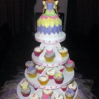 Barbie Fairy Cupcake Tower