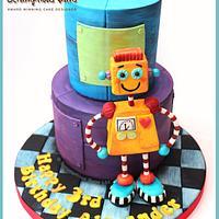 Marvelous Cakes Tagged Robot Cakesdecor Personalised Birthday Cards Epsylily Jamesorg