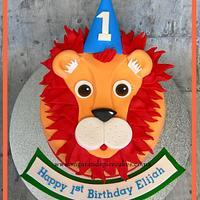 Leopold Lion Face Cake