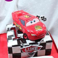 CARS 1st BIRTHDAY CAKE