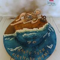 Sunbathing Cake
