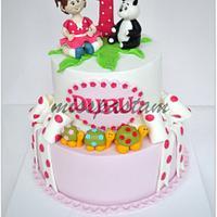 1th Birthday cake by Misspastam