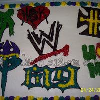 WWE Superstars cake