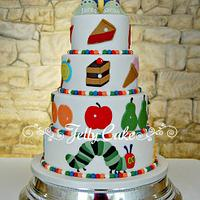 The Very Hungry Caterpillar Wedding Cake