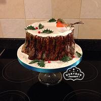 My Tree Stump Christmas Cake