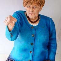 Angela Merkel 3d bust cake