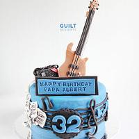 Bassist Cake by Guilt Desserts