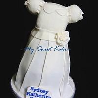 My Daughter's Baptismal Cake Dress