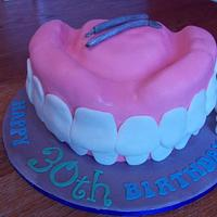 SMILE! Teeth Birthday cake