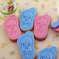 Baby Shower Cookies by Cheryl